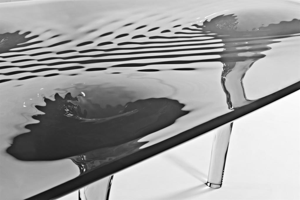 Jacopo spilimbergo zaha hadid liquid glacial table for for Zaha hadid liquid glacial table